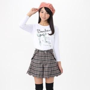 【オンライン限定商品】リボンプリント長袖Tシャツ