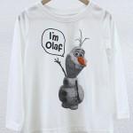 【coen kids】コーエン別注 アナと雪の女王 Olaf(オラフ)カットソー