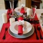 テーブルコーディネート赤