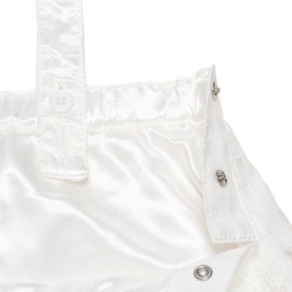 メゾピアノ ロゴ刺しゅう入りチェック柄エプロン風ジャンパースカート3