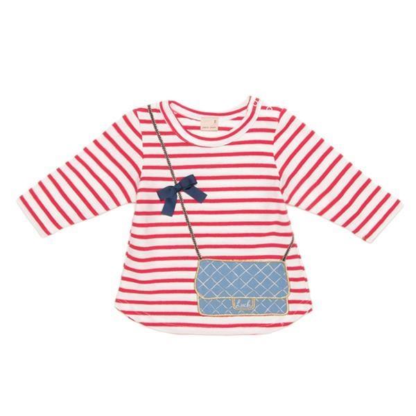 プティマイン バッグトロンプルイユ7分袖Tシャツ3