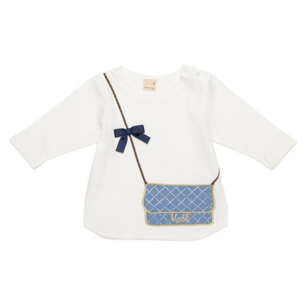 プティマイン バッグトロンプルイユ7分袖Tシャツ