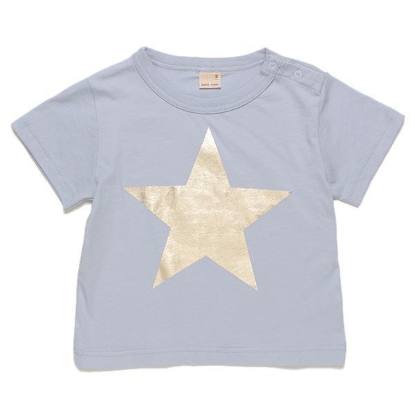 プティマイン スター箔プリント入りTシャツ2
