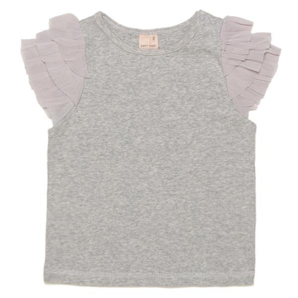 プティマイン チュールフリル袖Tシャツ3