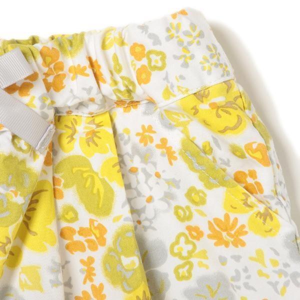 プティマイン リボンつき花柄ショートパンツ3