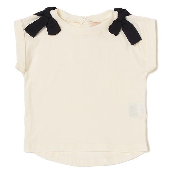 プティマイン 肩リボンつきTシャツ3