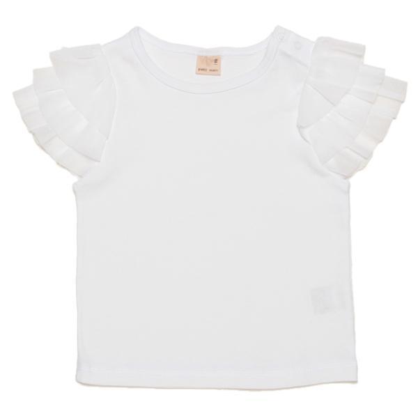 プティマイン チュールフリル袖Tシャツ2