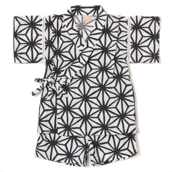 プティマイン 和柄麻の葉模様甚平2