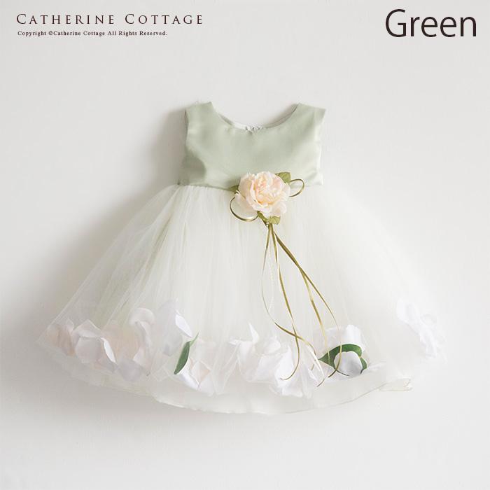 花びらいりチュールスカートベビードレス2