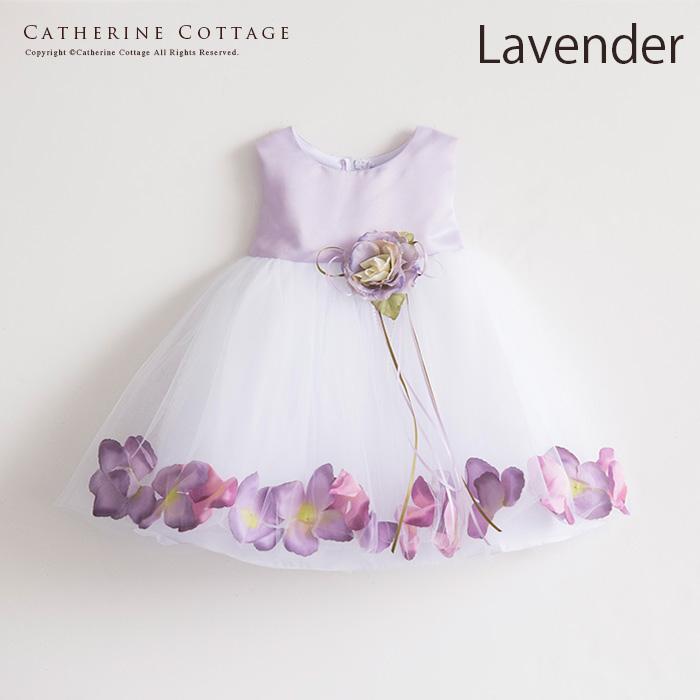 花びらいりチュールスカートベビードレス3
