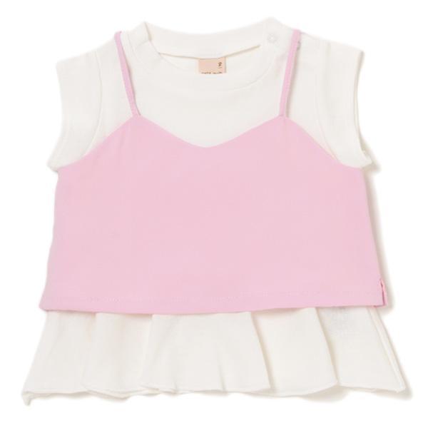 petit main ショート丈キャミソールつきTシャツ3