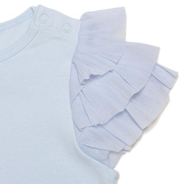petit main チュールフリル袖Tシャツ2