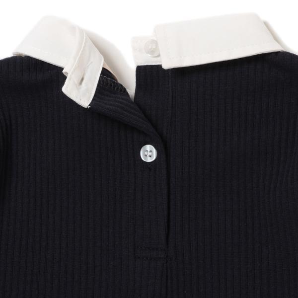 petit main 衿つきレイヤード風長袖プルオーバー34